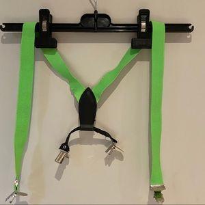 Neon Green Suspenders